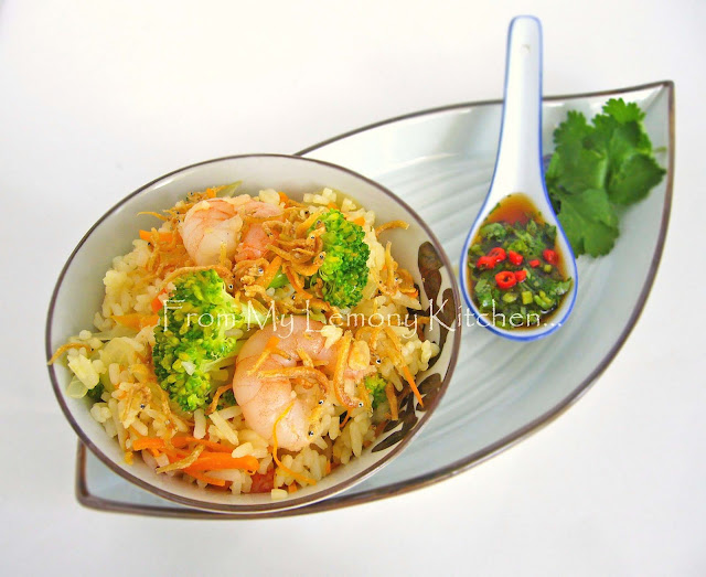 Prawns and Silver Fish fried Rice