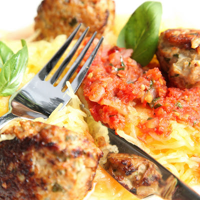 ... cent Diet: Spaghetti Squash and Savoury Dijon ground Turkey meatballs