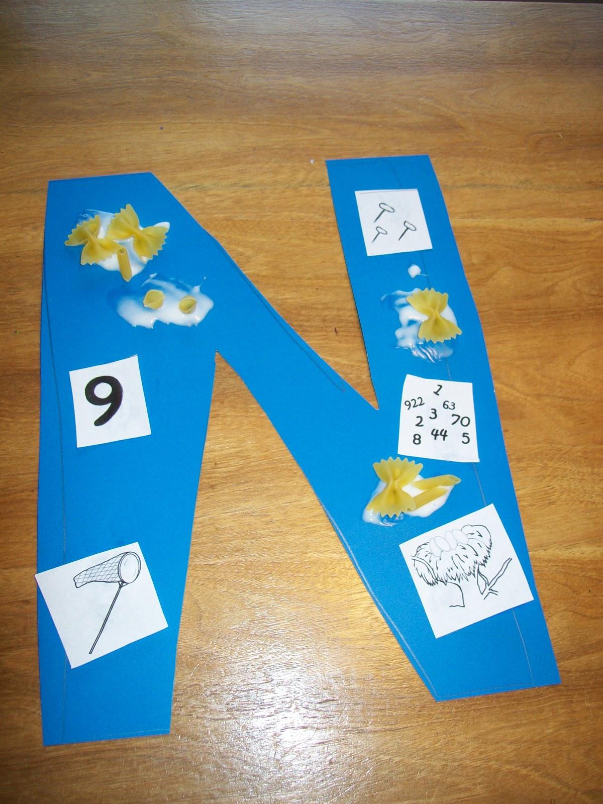 Preschool Words That Begin With Letter N