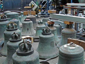 old bells awaiting repair