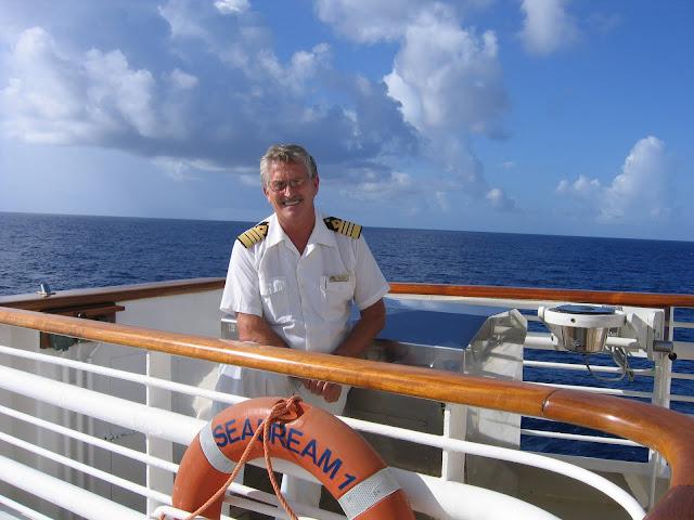 Captain Berg on the fly-bridge of SeaDream I