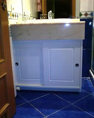 armario lavabo lacado blanco