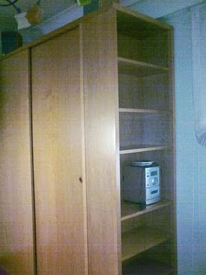 armario dormitorio puertas correderas en madera de mukali