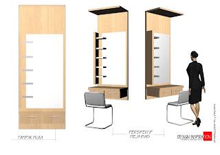 Kotak Interior Meja Rias