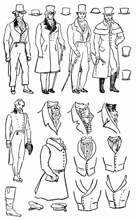 Gentleman Clothing, Regency Romances, 1820-1840 Clothing