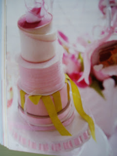 stacked ribbon cake decor