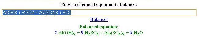 balance equation example