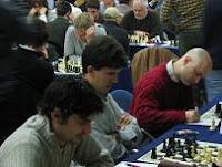 Jordi Fluvia, Jose Manuel López Martínez y Marc Narciso disputando el II Abierto de Ajedrez Illes Medes