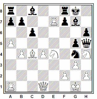 Posición de la partida de ajedrez Bellaiche (2472) - Revesz (2245) (Gibraltar, 2007)