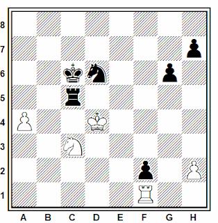 Posición de la partida de ajedrez Pirc - Byrne (Olimpiada, 1952)