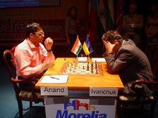 Anand e Ivanchuk, primero y segundo de la clasificación Elo de ajedrez