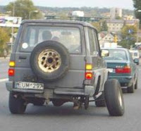 Multas por llevar una rueda en mal estado