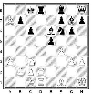 Posición de la partida de ajedrez Nakamura - Aronian (Mainz, 2009)
