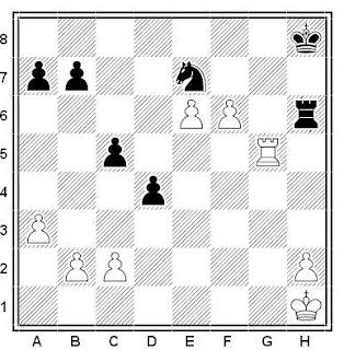 Posición de la partida de ajedrez Skuratov - Svedchikov (URSS, 1972)