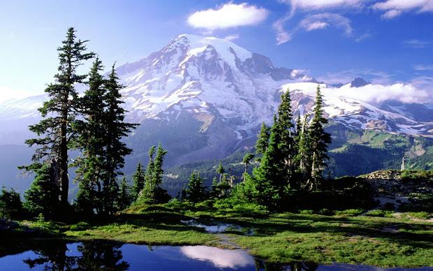 Mountain Landscape Background Wallpaper