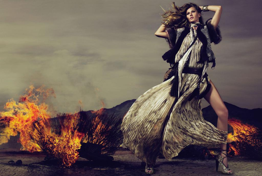 Cool Fall Wallpaper Gisele Bundchen For Roberto Cavalli Fall Winter 2010 11