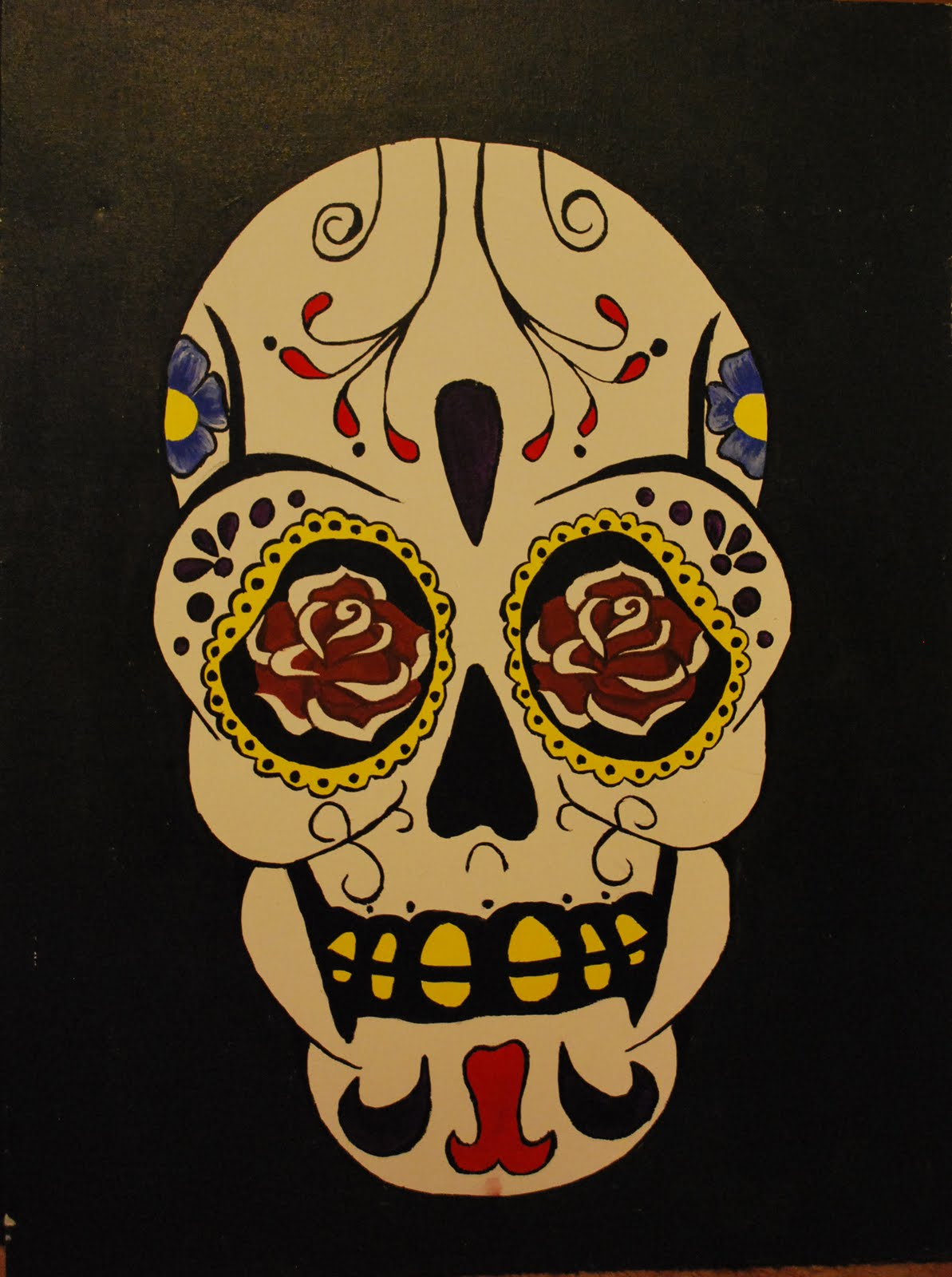 SaraSea Art: Ornate Sugar skull