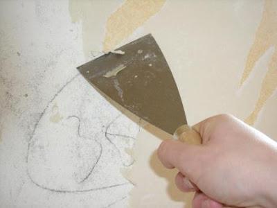 Desempapelar quitando el empapelado de las paredes - Como quitar la pintura de la pared ...