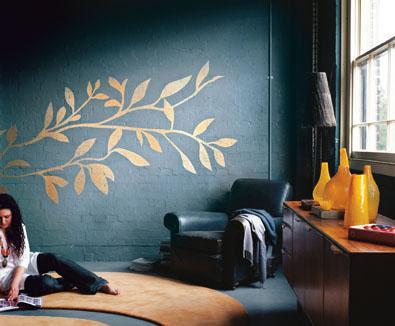 Decorando las paredes con pintura metalizada - Pinturas decorativas en paredes ...
