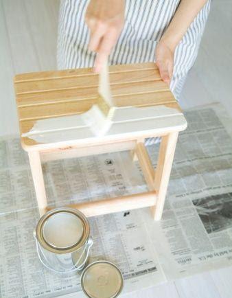 Pintar muebles de madera con esmalte - Pintar madera blanco ...