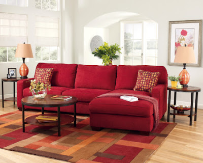 Sof rojo de qu color las paredes Decoracion salon sofa beige