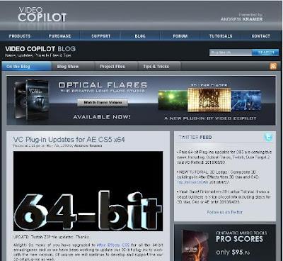 Filtros (Plugins) de Videocopilot para After Effects. Actualizacion a Version CS5 64 bit