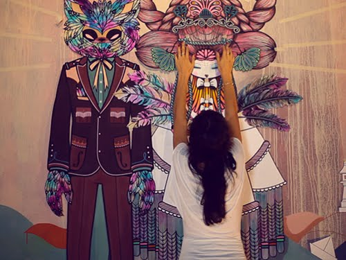 "Video Arte ""Mural de Supakitch y Koralie"" de Elroy"