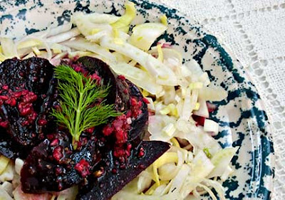 Beet, Fennel, and Leek Salad