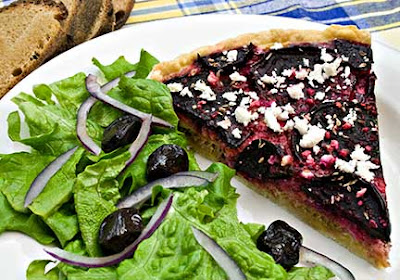 Roasted Beet and Garlic Tart