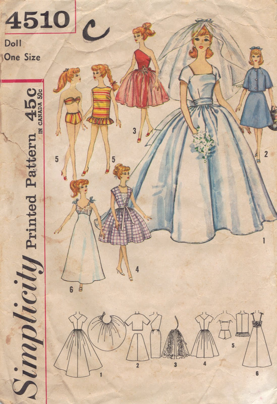 Pattern For Victorian Crochet Dress For Barbie Easy