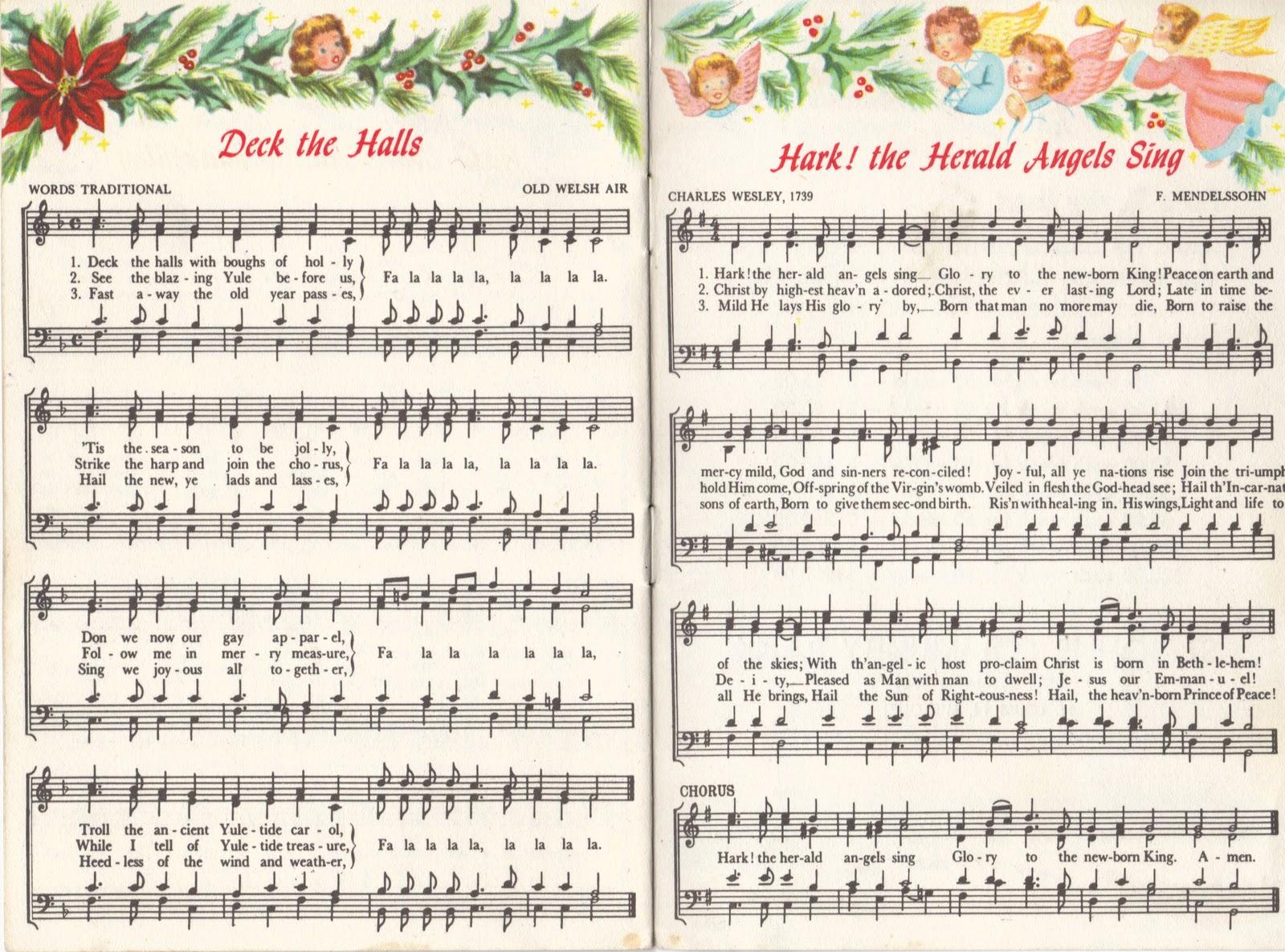 Christmas Carol Printable: Two Crazy Crafters: Christmas Carols