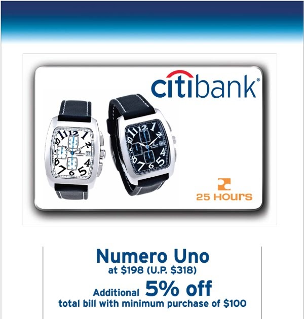 25 HOURS Watch Gallery: Citibank Cardmember's Exclusive
