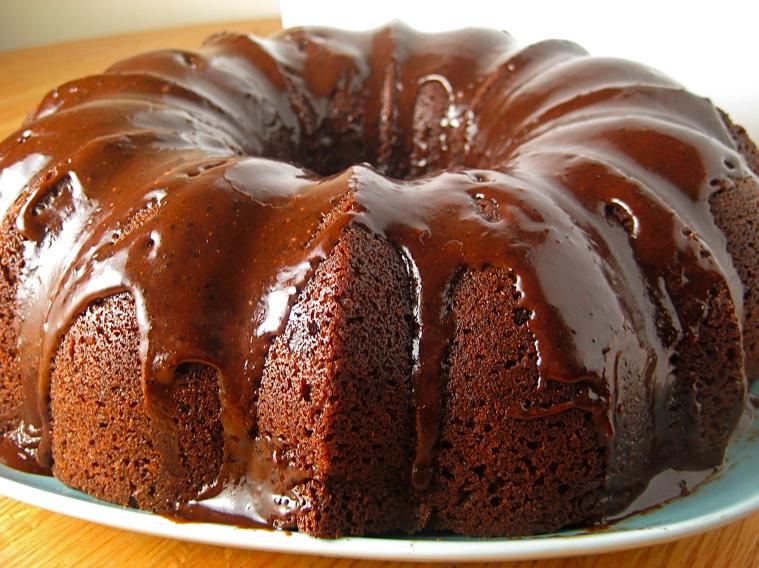 Food Is My Lover Chocolate Amaretto Bundt Cake