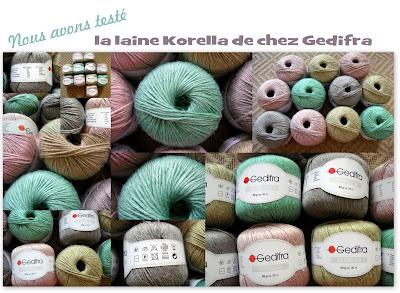 tricot test laine Korella Gedifra