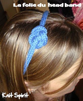 head band tricotin