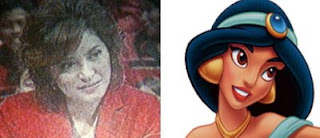 Rahma Sarita (TV One) dan Princess Jasmine (Aladdin)