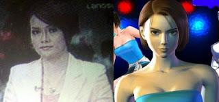 Shinta Puspitasari (TV One) dan Jill Valentine (Resident Evil)