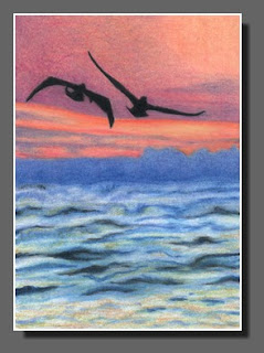 Silhouette Sky #29, Dee Overly, Colored Pencil