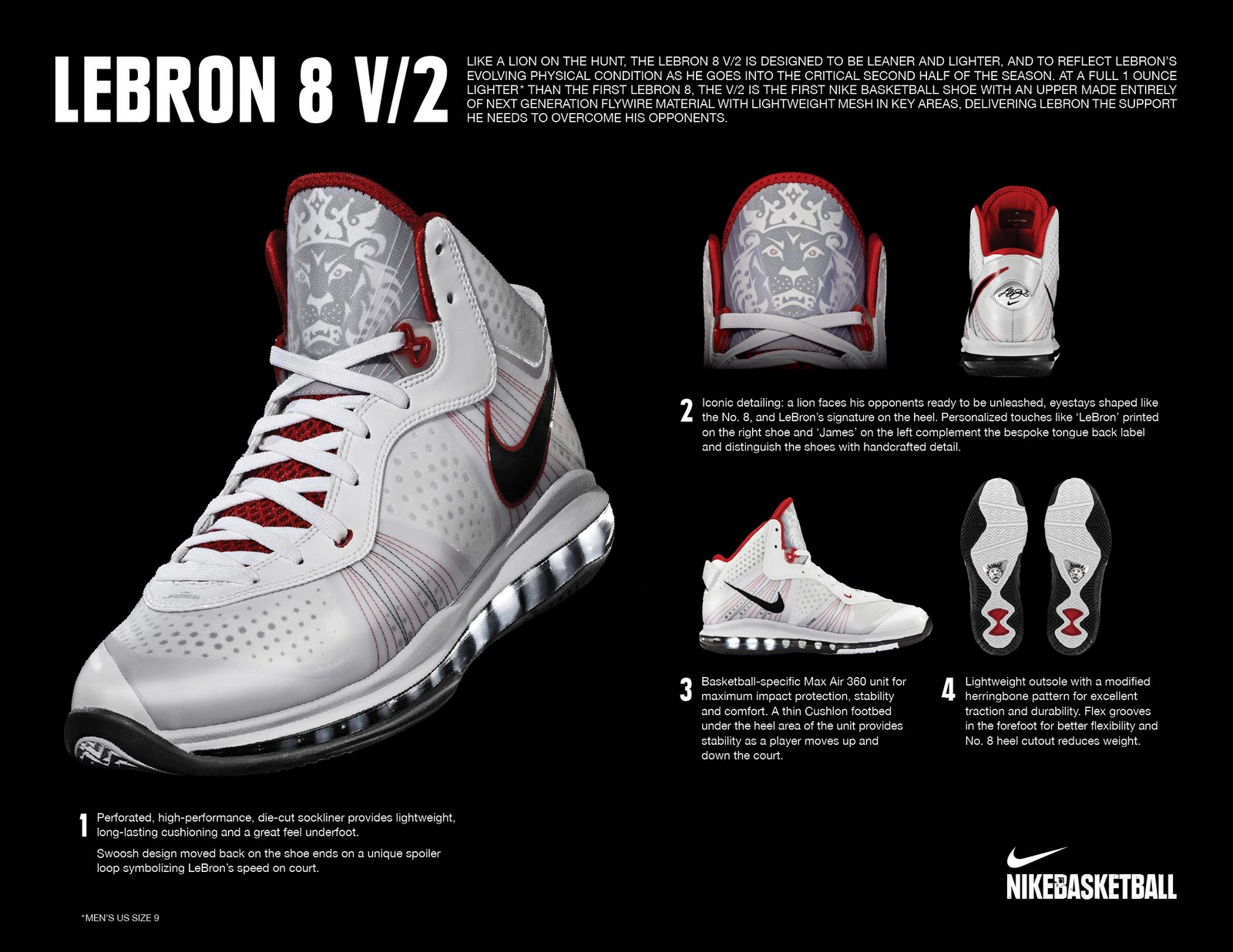 new concept 28d0f eb411 A more detailed look at the LeBron VIII V 2 s (Image courtesy of Nike  Philippines)