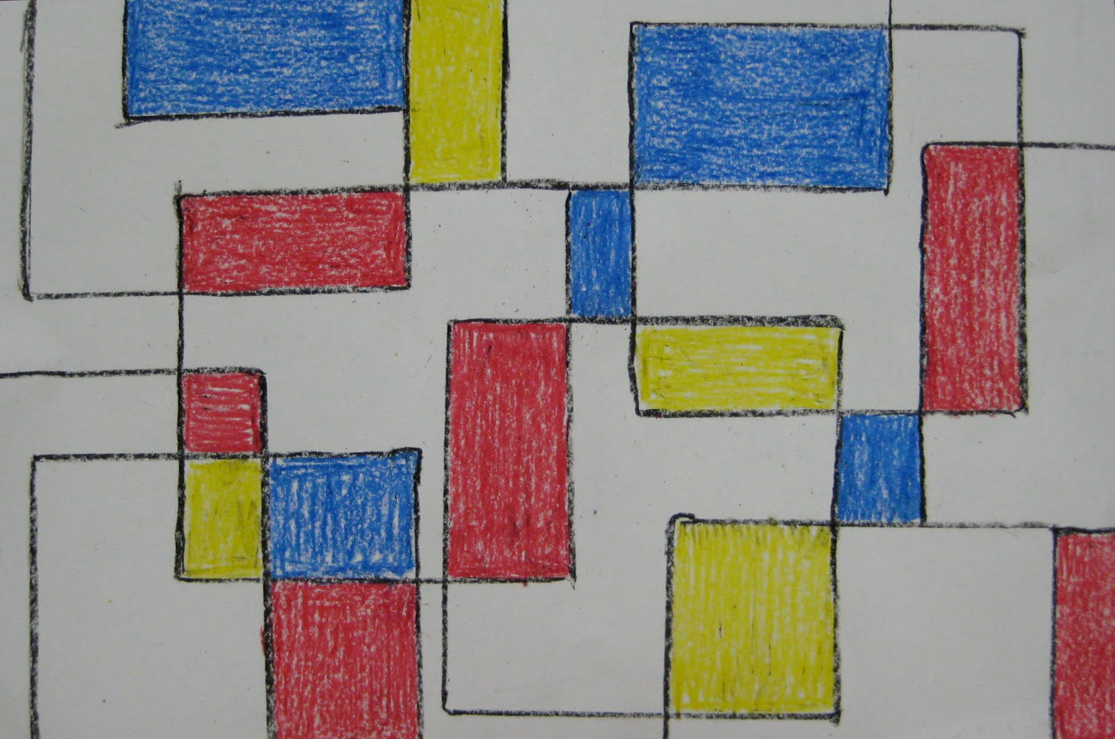 Easy Mondrian Teachkidsart