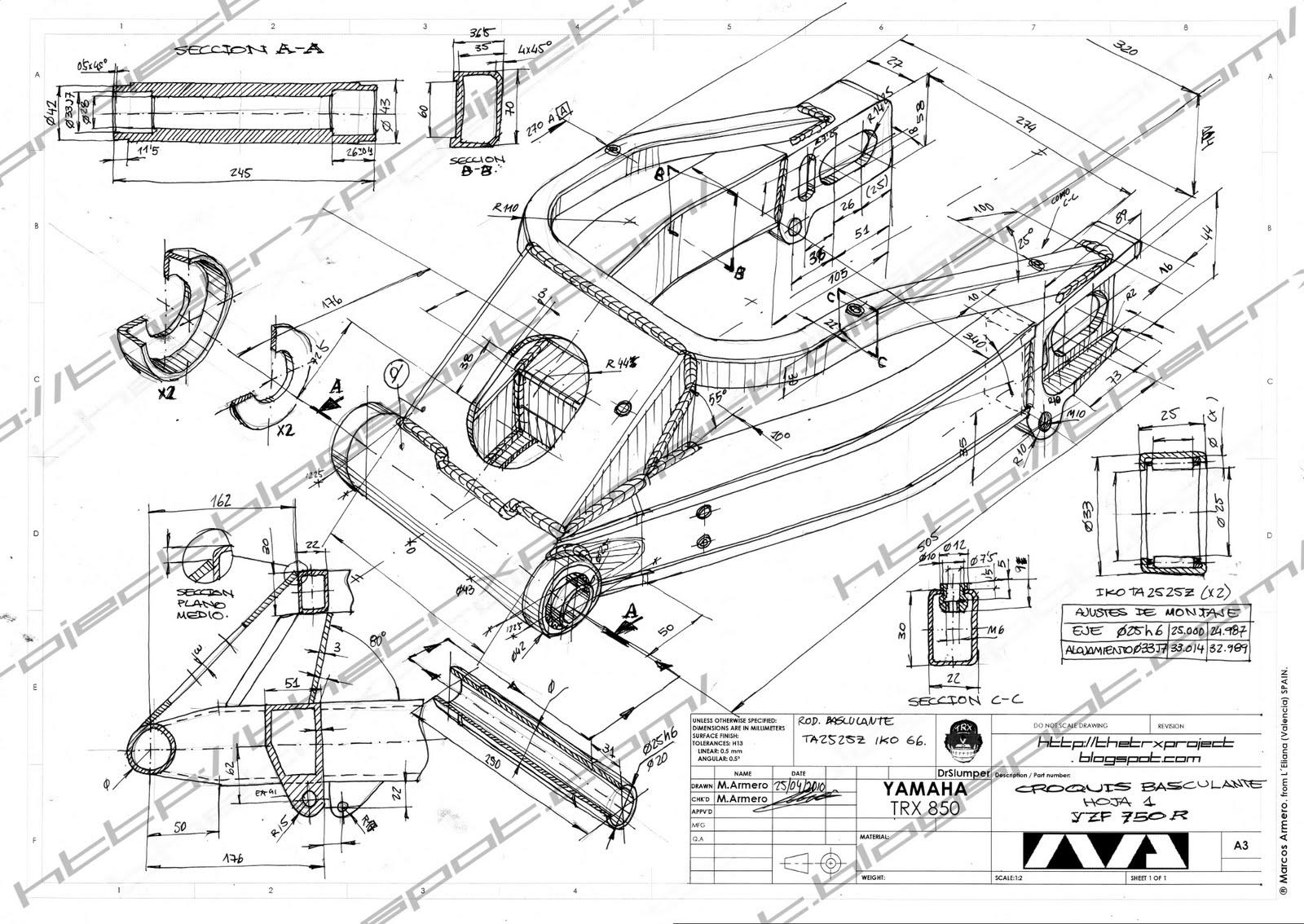 The TRX Project. The Yamaha TRX 850 blog: YZF 750 R Swing