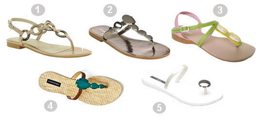 8441b22e6 Sandália Spot Shoes, R$: 19,90;4. Sandália da Empório Naka, R$: 129,90;5. Sandália  Melissa secret love, R$: 49,90