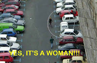 It can only be a woman driver... 12