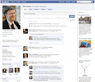 Fake Bill Gates on Facebook 1