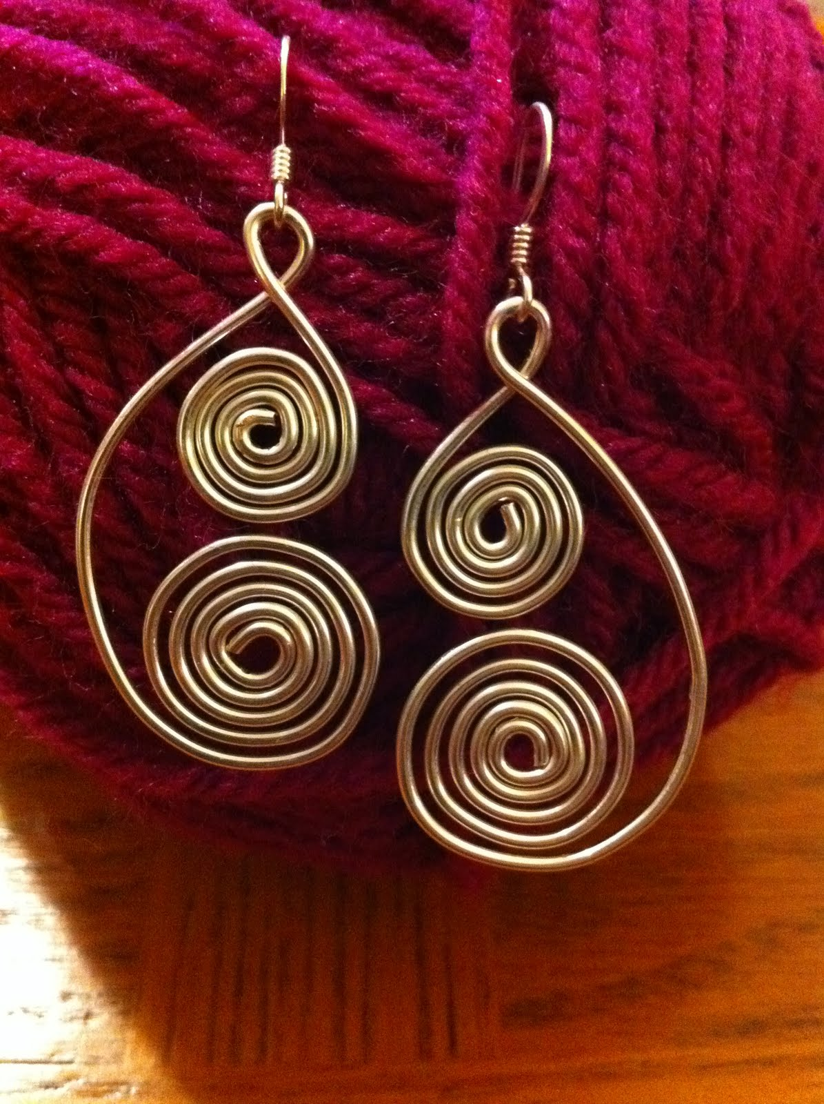 Stargazun Designs Curly Silver Wire Earrings