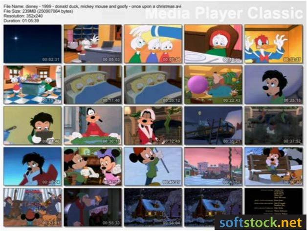 Mickey Mouse Once Upon A Christmas.Video 7 Disney 1999 Donald Duck Mickey Mouse Goofy