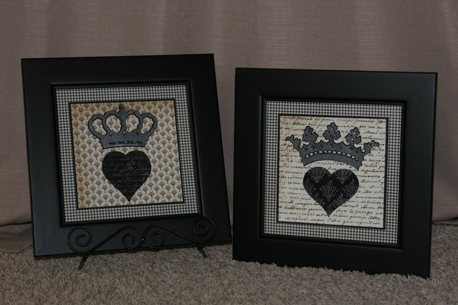 I Kind Of Have A King Queen Theme Going On My Daughter Saw Them And Thought It Would Make Cute Card For Her Friend She Bought Juicy Perfume