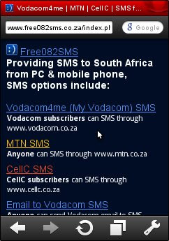 Free SMS to MTN, CellC and Vodacom from your PC or mobile phone