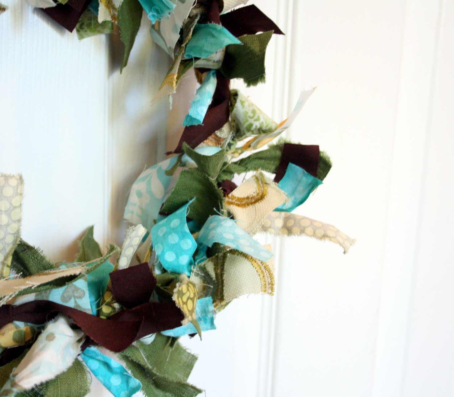 Blukatkraft Easy Diy Scrap Fabric Ribbon Wreath: The Creative Place: Friday Fun: DIY Fabric Scrap Wreath