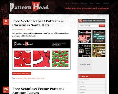 Partternhead vetores corel